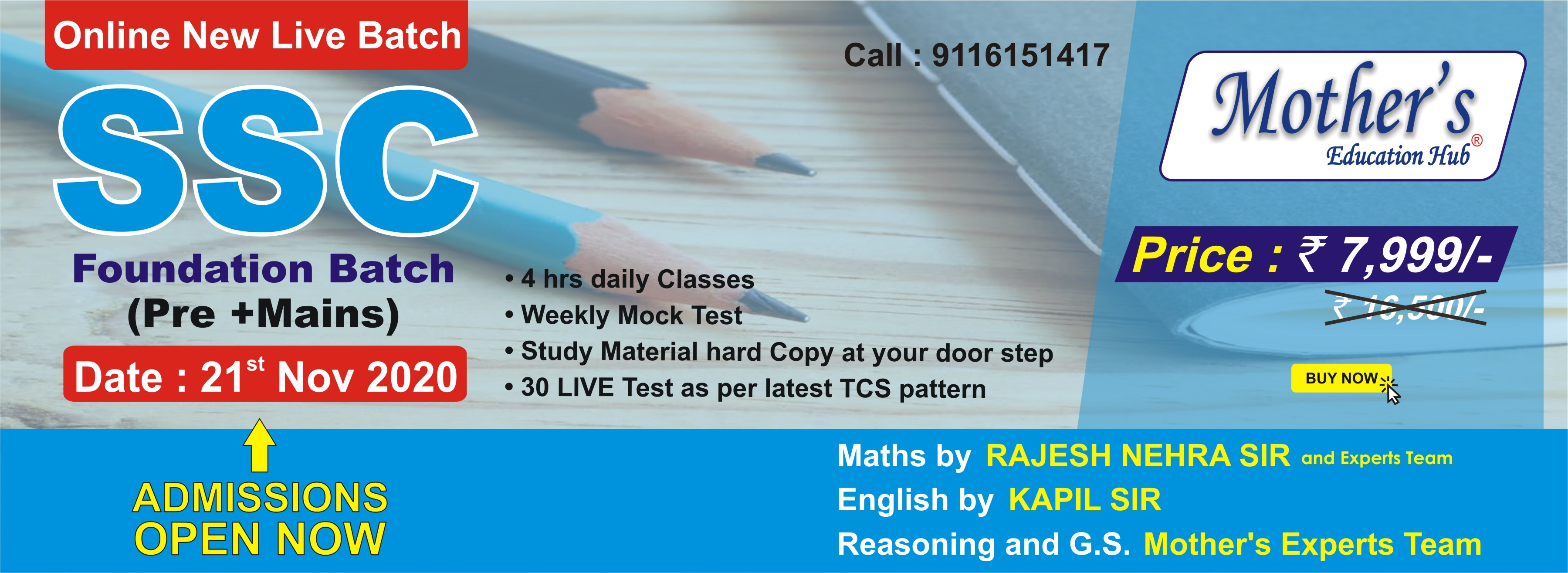 SSC Pre Batch Target foundation (21 Nov) (Web) (Study Matrial)